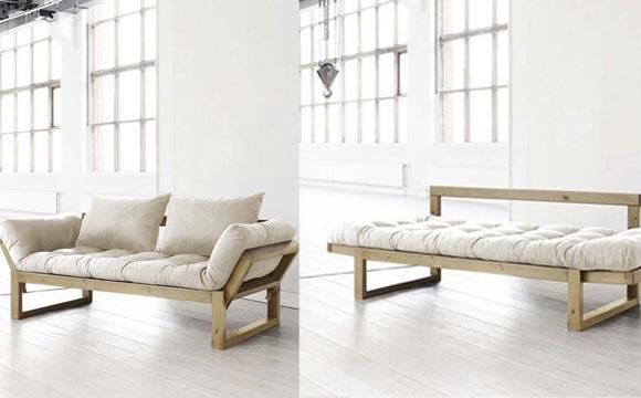 Esse sofá minimalista pode virar uma confortável cama de solteiro (Foto: BR.Pinterest.com.br)