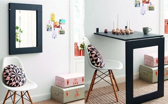 Aquele espelho charmoso pode virar uma bela mesa de jantar (Foto: BR.Pinterest.com.br)