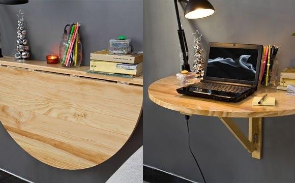 Uma outra opção de mesa de canto que pode ser apenas uma prateleira (Foto: BR.Pinterest.com.br)