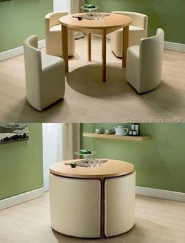— A mesinha de centro pode virar uma bela mesa de jantar com cadeiras (Foto: BR.Pinterest.com.br)