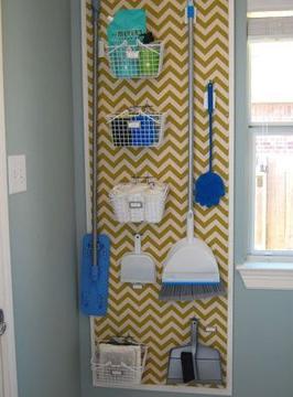 A área de serviço pode ser oganizada de maneira simples (Foto: Br.Pinterest.com)