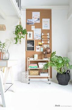 A parede com cortiça ganha destaque na decoração (Foto: br.pinterest.com.br)