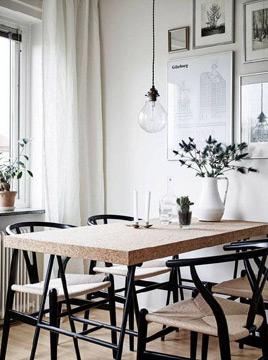 Para quem não tem medo de ousar, vale a pena apostar em uma mesa (Foto: br.pinterest.com.br)