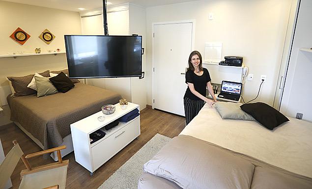 Imóveis compactos como o de Juliana Tosato, que tem 29 m², serão tendência