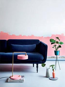 Uma boa combinação é o azul-marinho com rosa (Foto: Pinterest)