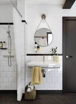 O espelho pode ser usado tanto em um ambiente com uma versão moderna, como em uma versão um pouco mais clássica (Foto: Reprodução/Pinterest)