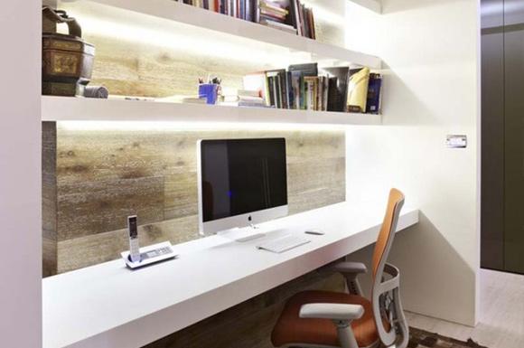 Embutir lâmpadas na estante ou armário fornece uma iluminação mais pontual (Foto: Reprodução/Pinterest)