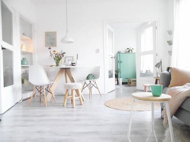 O estilo escandinavo é o favorito de Jess. Em sua casa, ela prioriza grandes espaços vazios e cores sóbrias (Foto Reprodução/Instagram)
