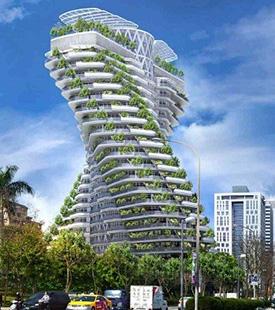 Prédio ajuda a reduzir poluição do ar – graças a 23 mil plantas