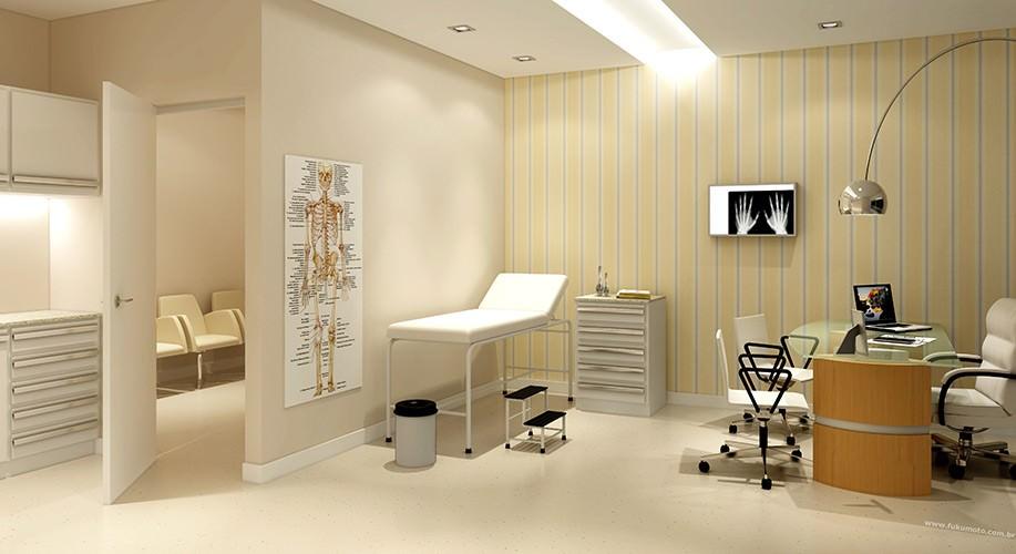 Perspectiva artística consultório médico (sugestão) - São Caetano Prime Offices & Mall
