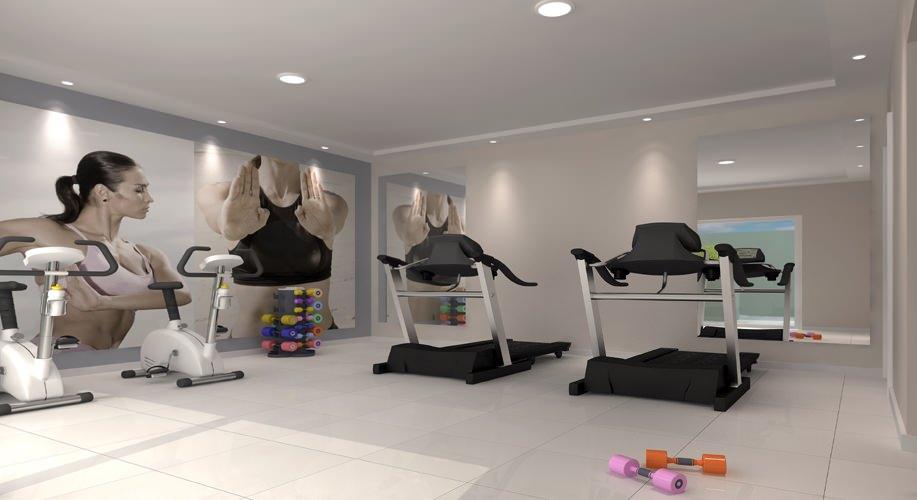 Perspectiva artística do fitness - Vitória Residencial