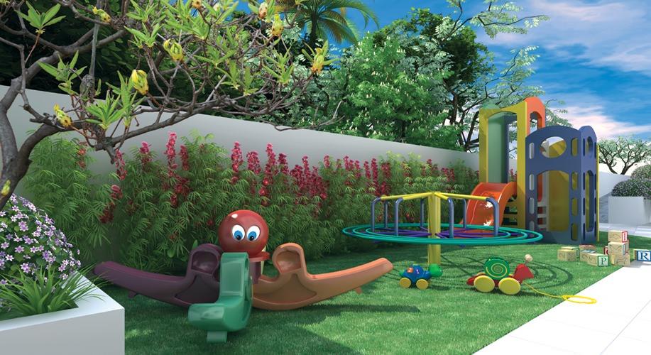 Perspectiva artística do playground - Vitória Residencial