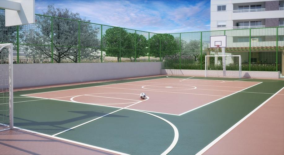 Perspectiva artística da quadra recreativa - Paseo Diadema