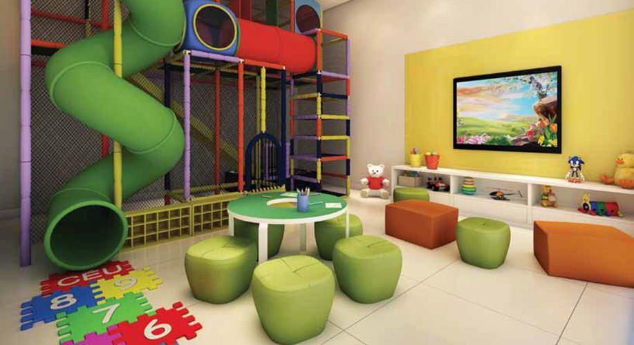 Perspectiva artística da brinquedoteca - Cidade Viva Residencial