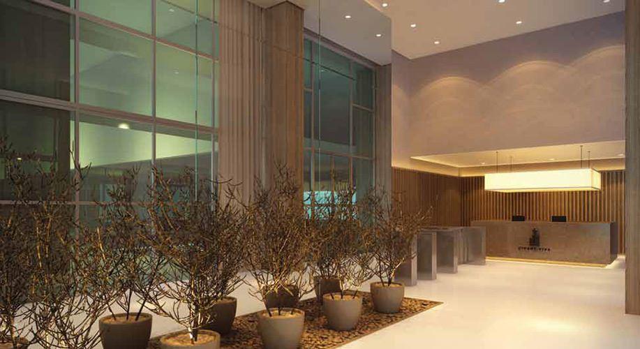 Perspectiva artística do lobby - Cidade Viva Residencial