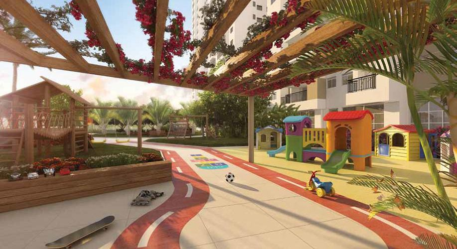Perspectiva artística do playground - Cidade Viva Residencial