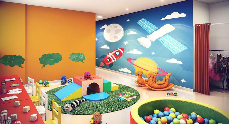 Perspectiva artística da brinquedoteca - Kennedy Park Home
