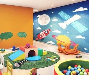 Perspectiva artística da brinquedoteca - Kennedy Park Studios