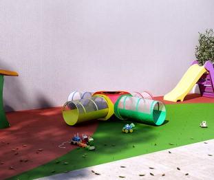 Perspectiva artística do playground - Kennedy Park Studios